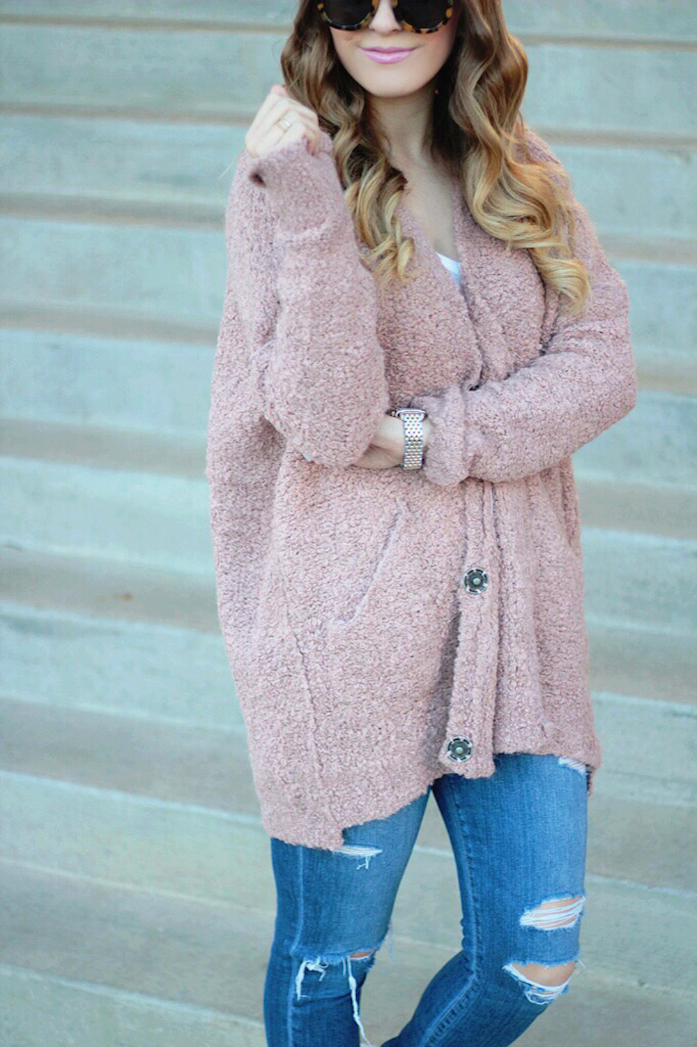 nordstrom free people boucle cardigan rachel puccetti