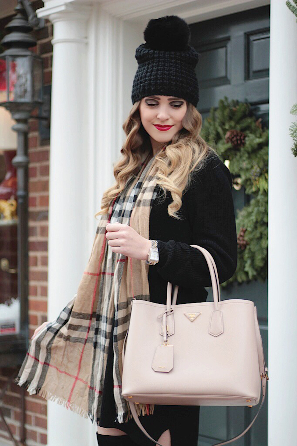 burberry scarf holiday style rachel puccetti between two coasts