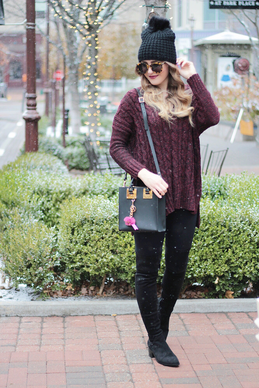 cozy cable knit sweater under 100 rachel puccetti between two coasts
