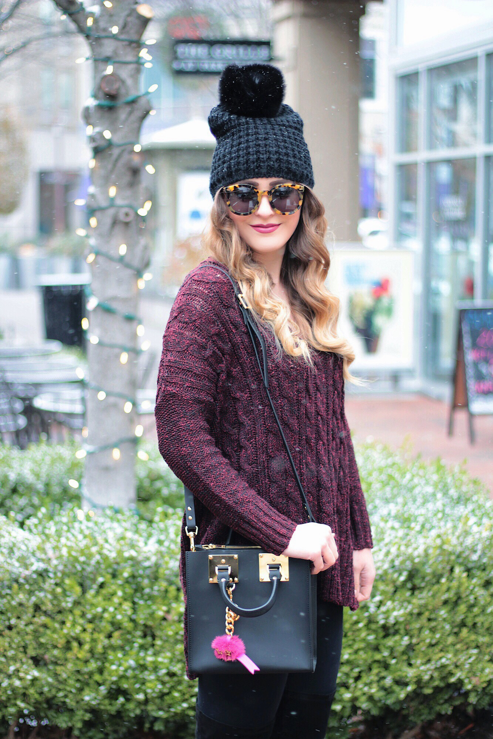 winter style cable knit sweater rachel puccetti
