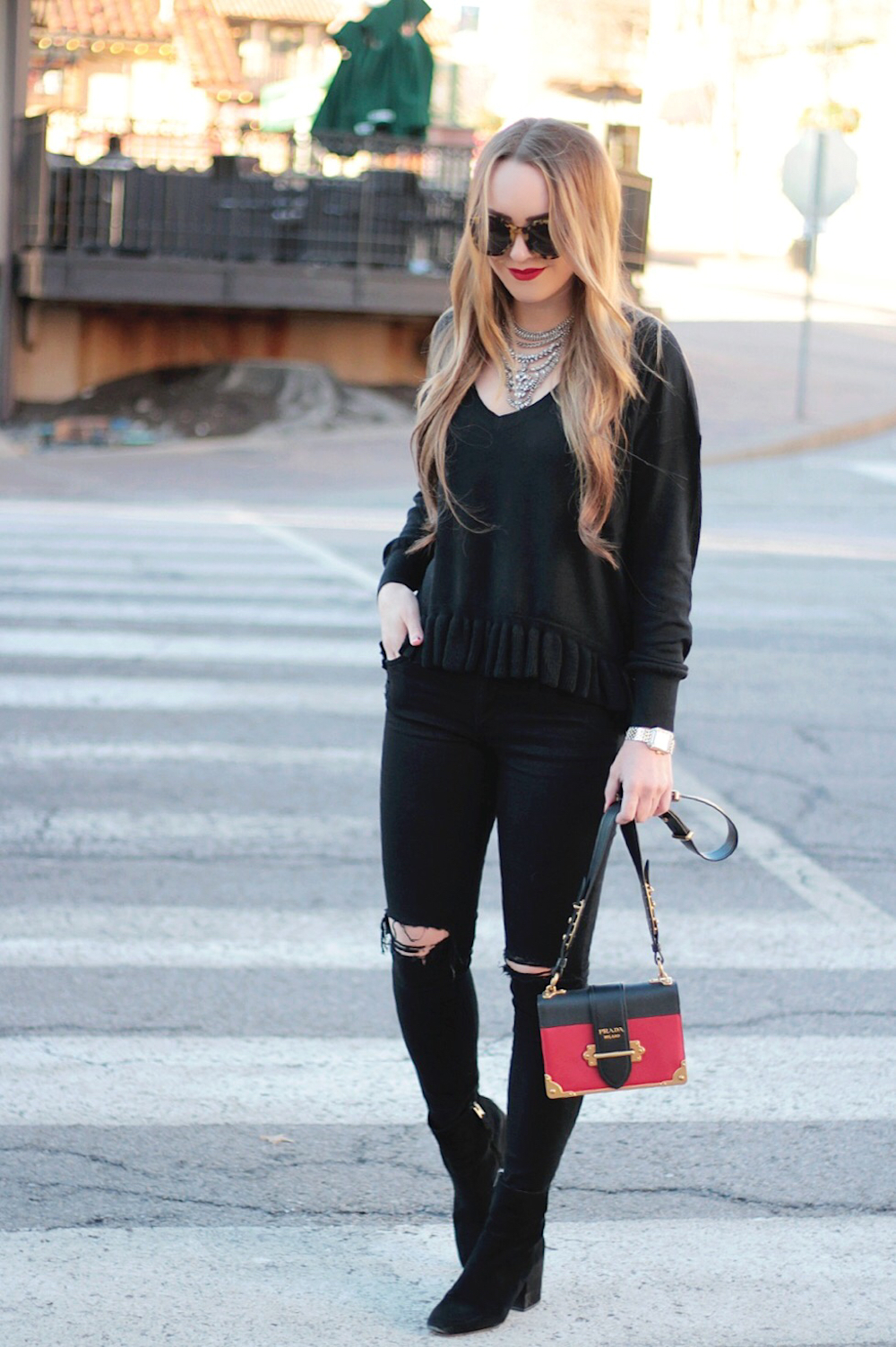 black outfit street style rachel puccetti between two coasts