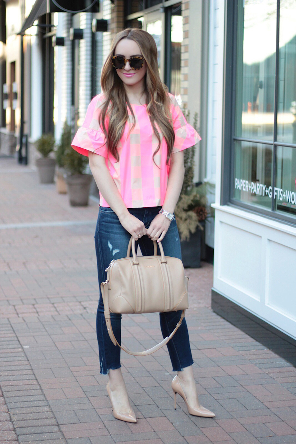 valentines day outfit pink top rachel puccetti