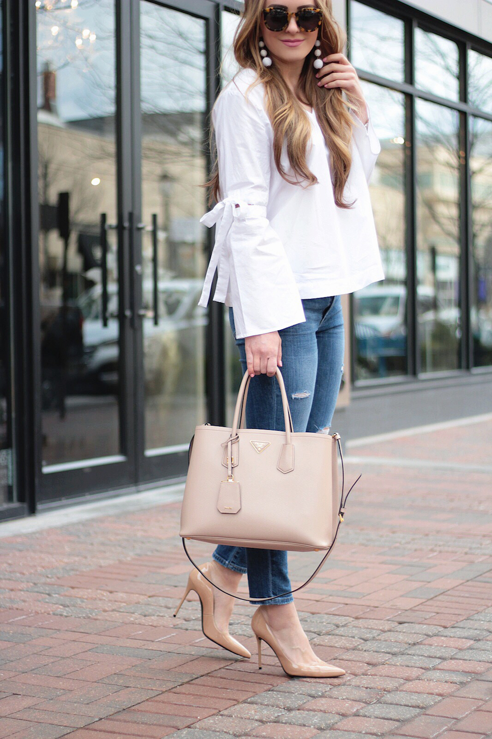 white bell sleeves top rachel puccetti between two coasts