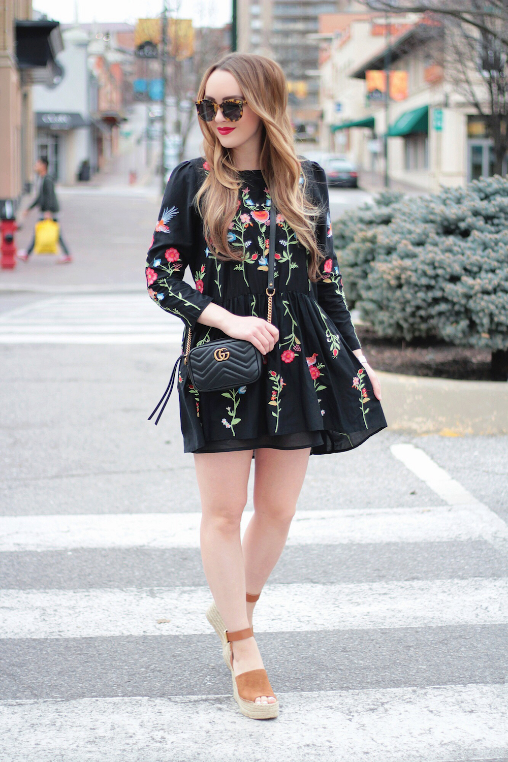 embroidered dress outfit idea rachel puccetti between two coasts