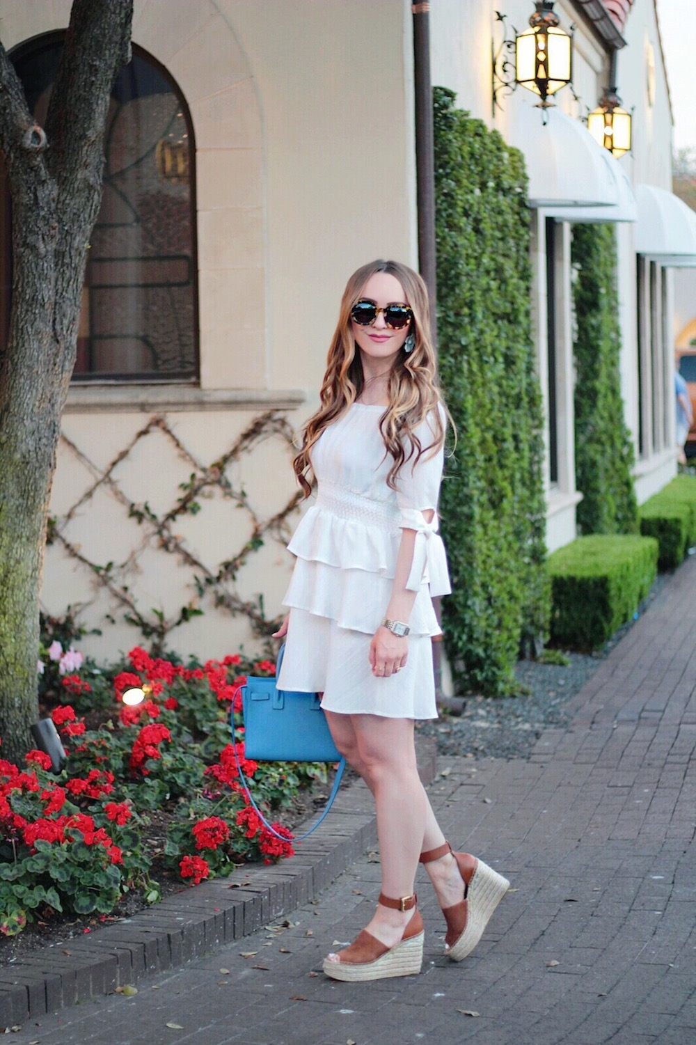 off the shoulder ruffle dress rachel puccetti between two coasts