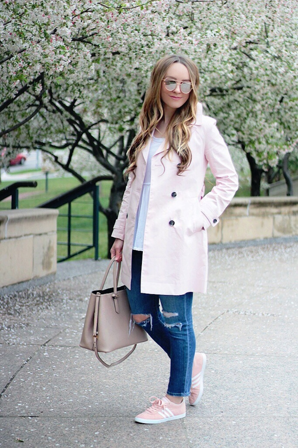 outfit inspiration trench coat rachel puccetti between two coasts