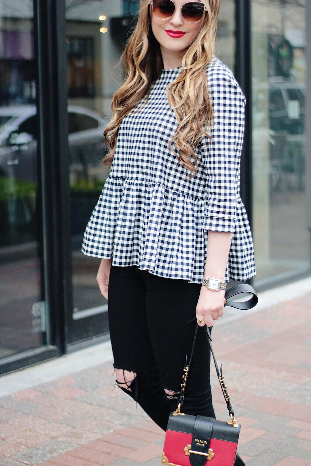 gingham peplum rachel puccetti between two coasts