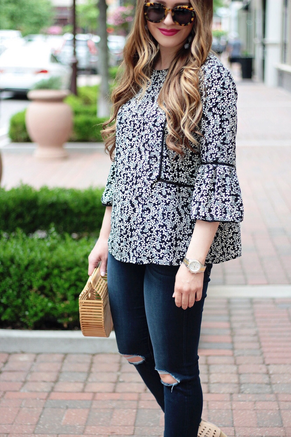 feminine floral top rachel puccetti between two coasts