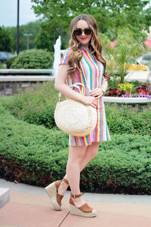 jcrew striped shirtdress rachel puccetti between two coasts