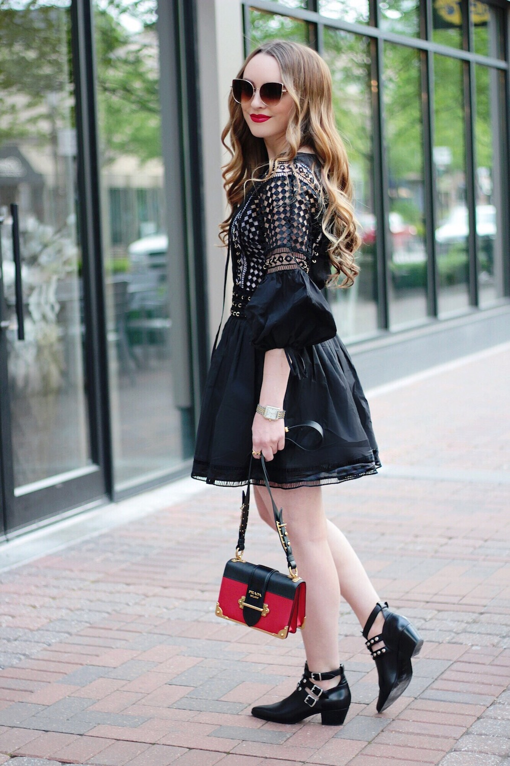 lbd and saint laurent booties rachel puccetti between two coasts
