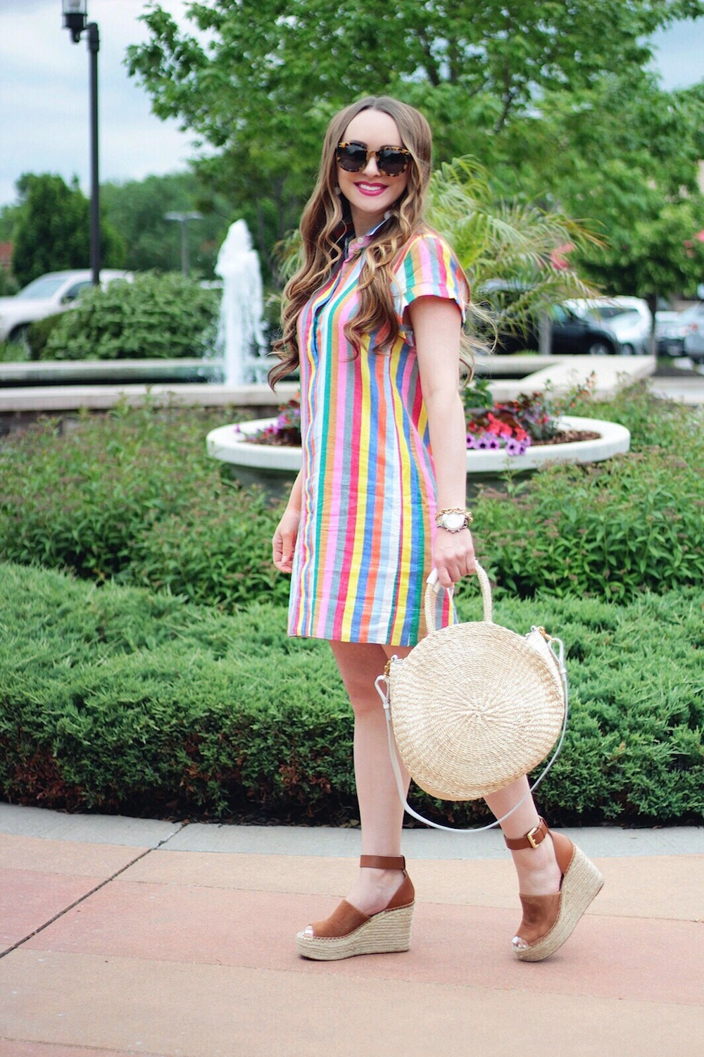 technicolor striped shirtdress rachel puccetti between two coasts