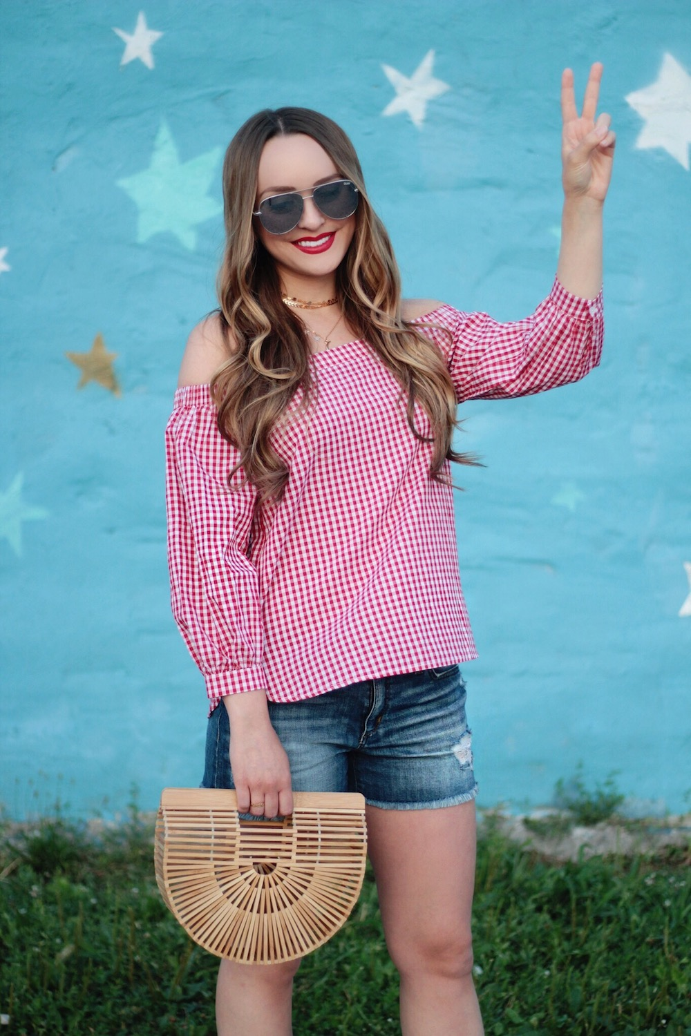 fourth of july gingham outfit rachel puccetti