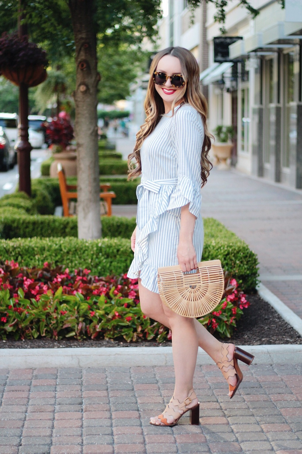 striped dress summer style rachel puccetti between two coasts