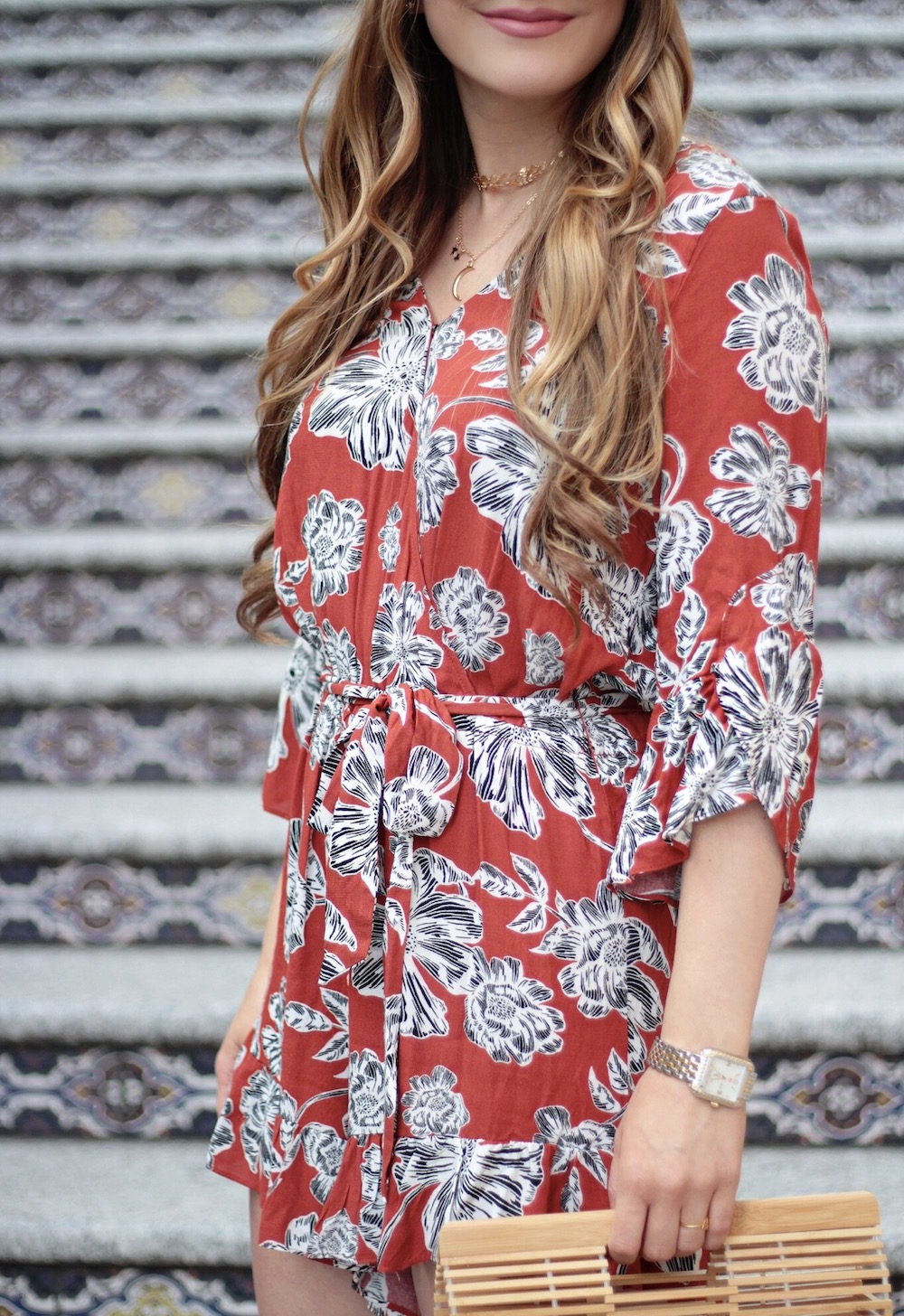 floral romper who what wear rachel puccetti