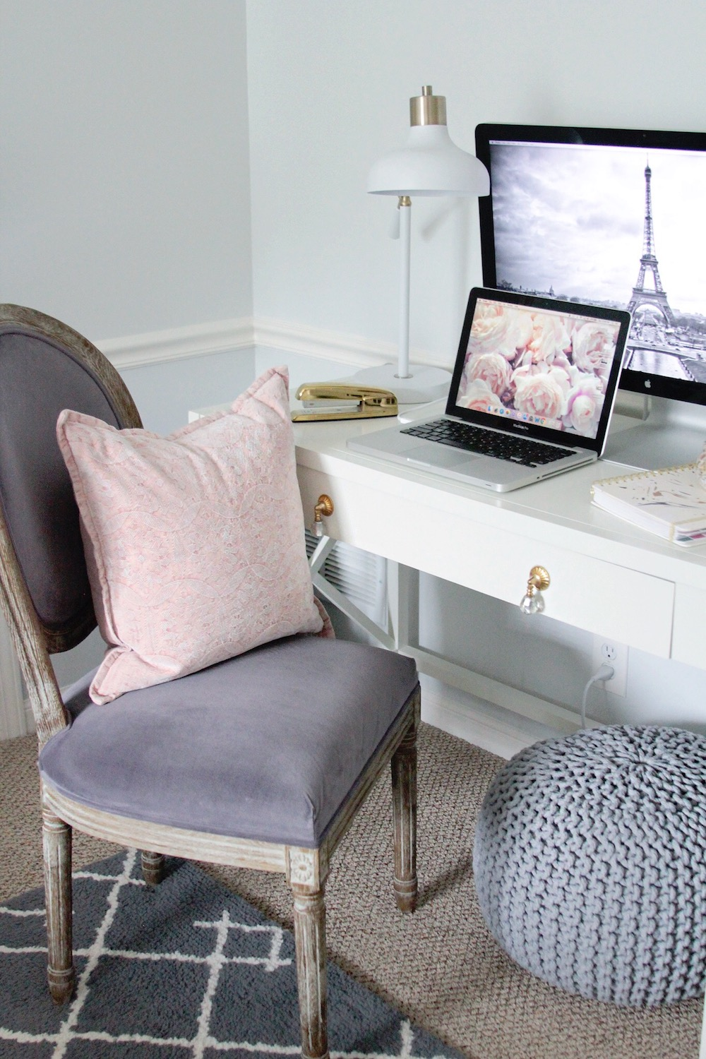 desk decor room reveal rachel puccetti