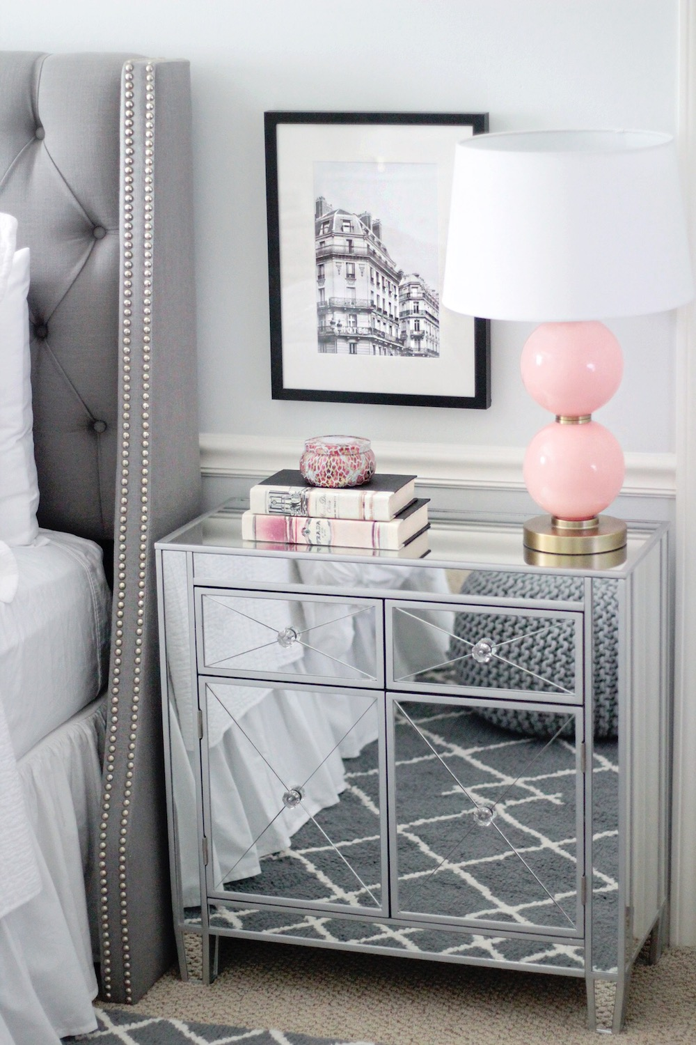 mirrored nightstand rachel puccetti