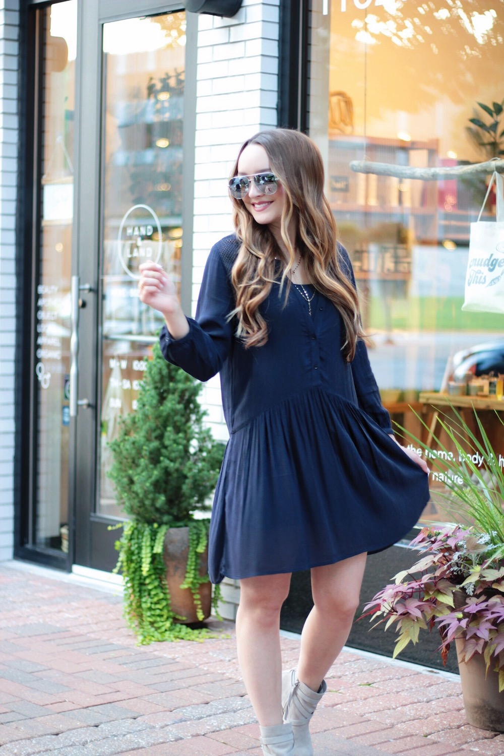 navy dress fall style rachel puccetti