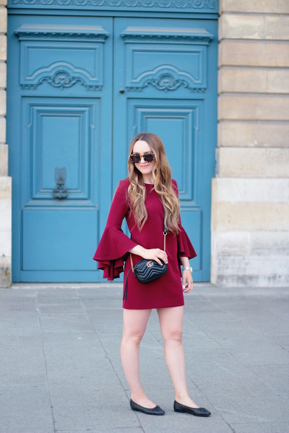 perfect bell sleeve dress paris rachel puccetti