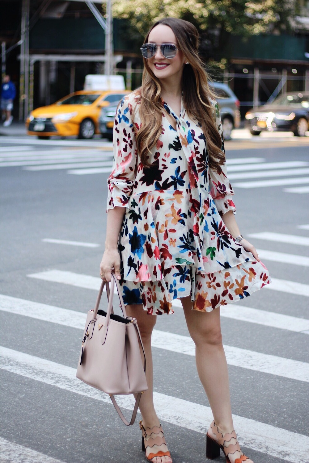 alice and olivia dress nyfw street style rachel puccetti between two coasts