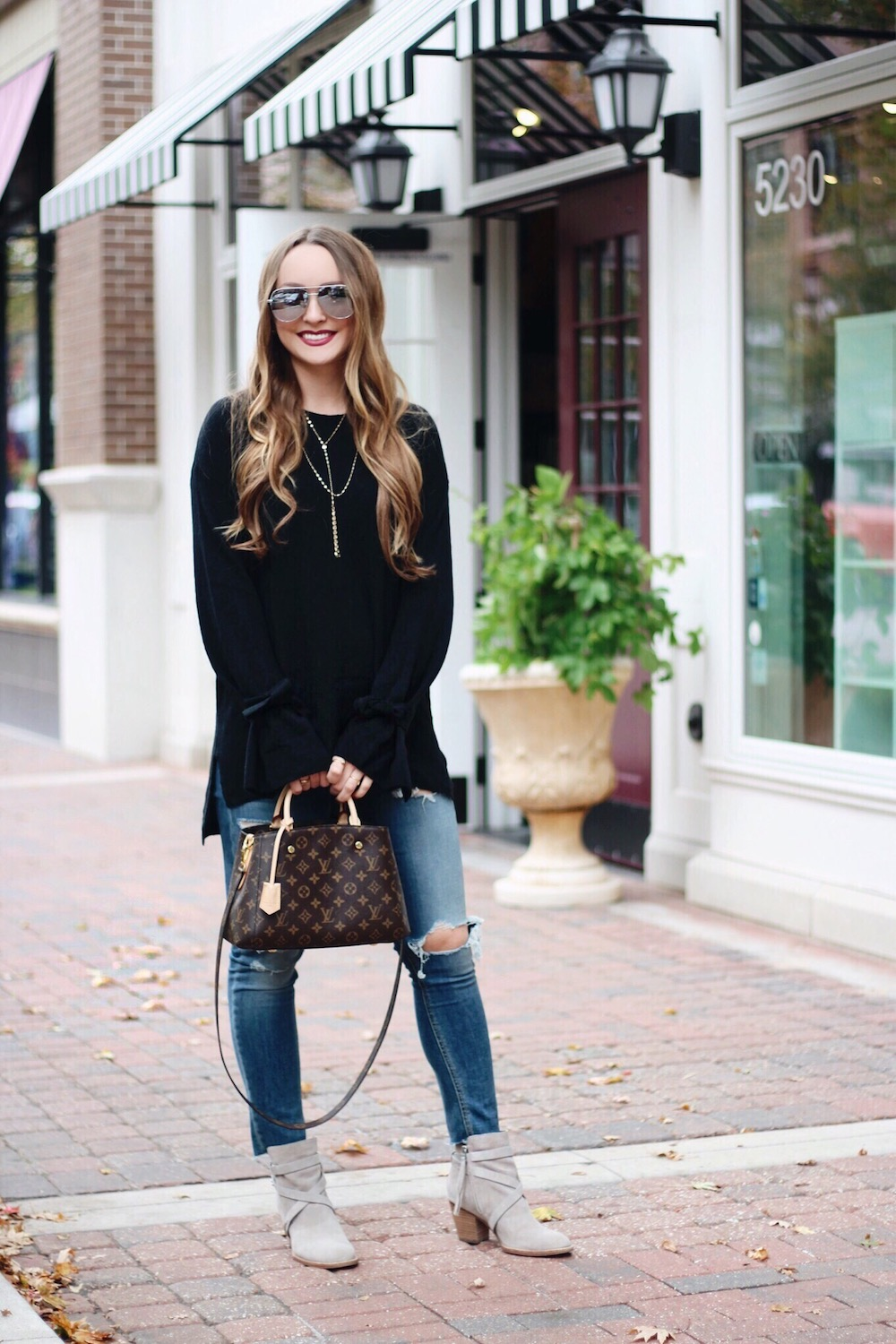 cute tie sleeve sweater rachel puccetti between two coasts