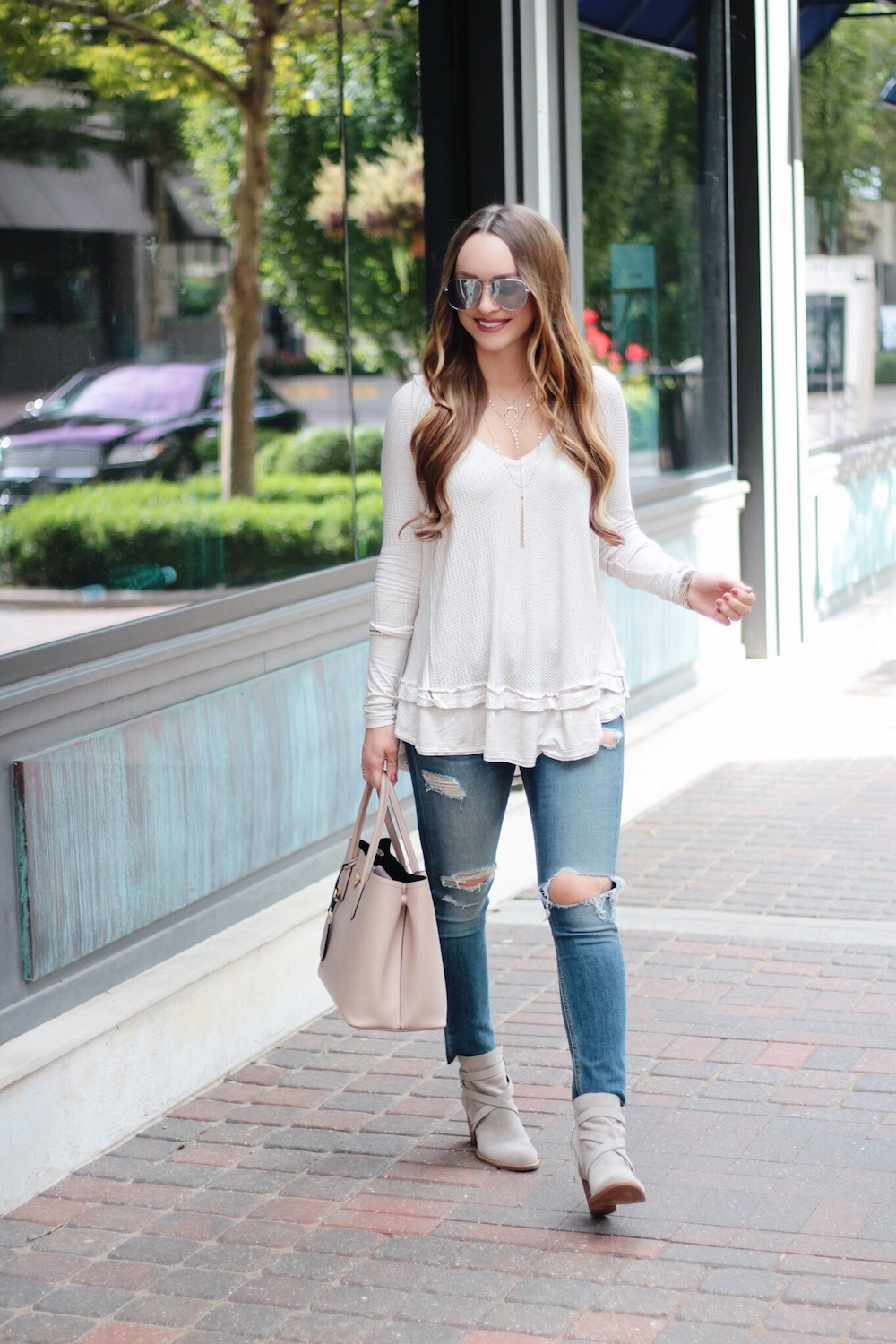 fall essentials thermal tee rachel puccetti