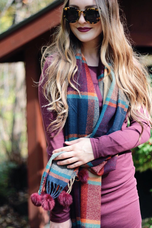 burgundy plaid scarf rachel puccetti