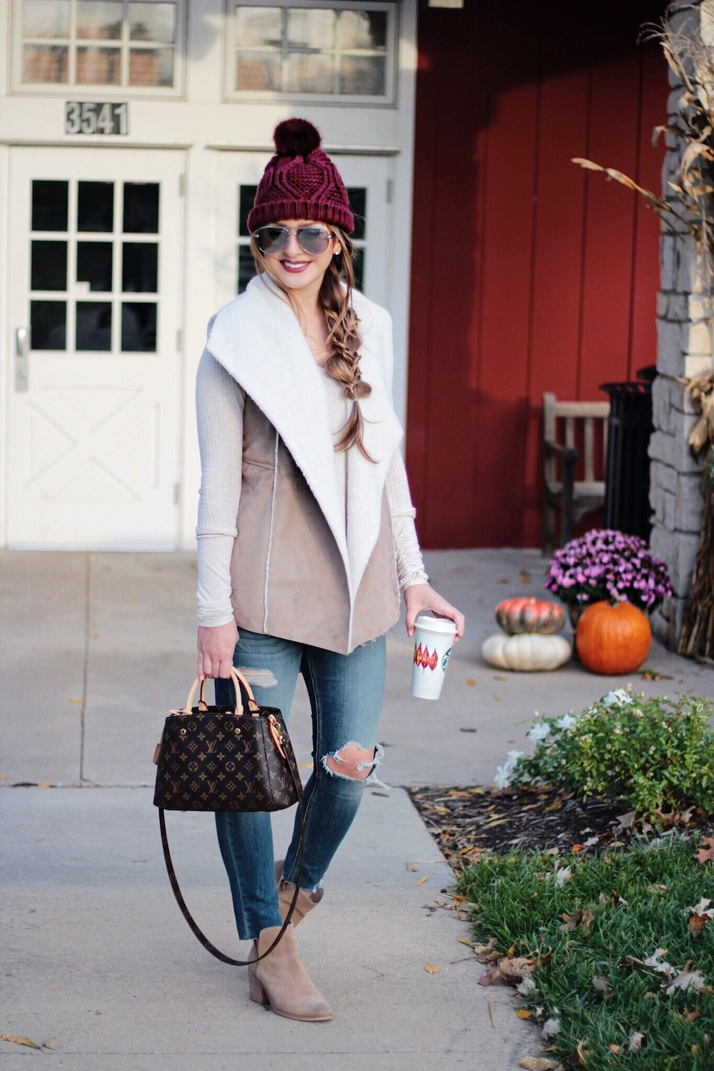 faux shearling vest rachel puccetti between two coasts