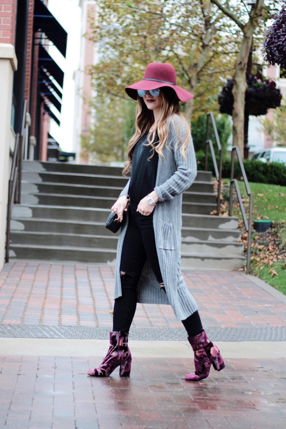 velvet booties fall style rachel puccetti between two coasts