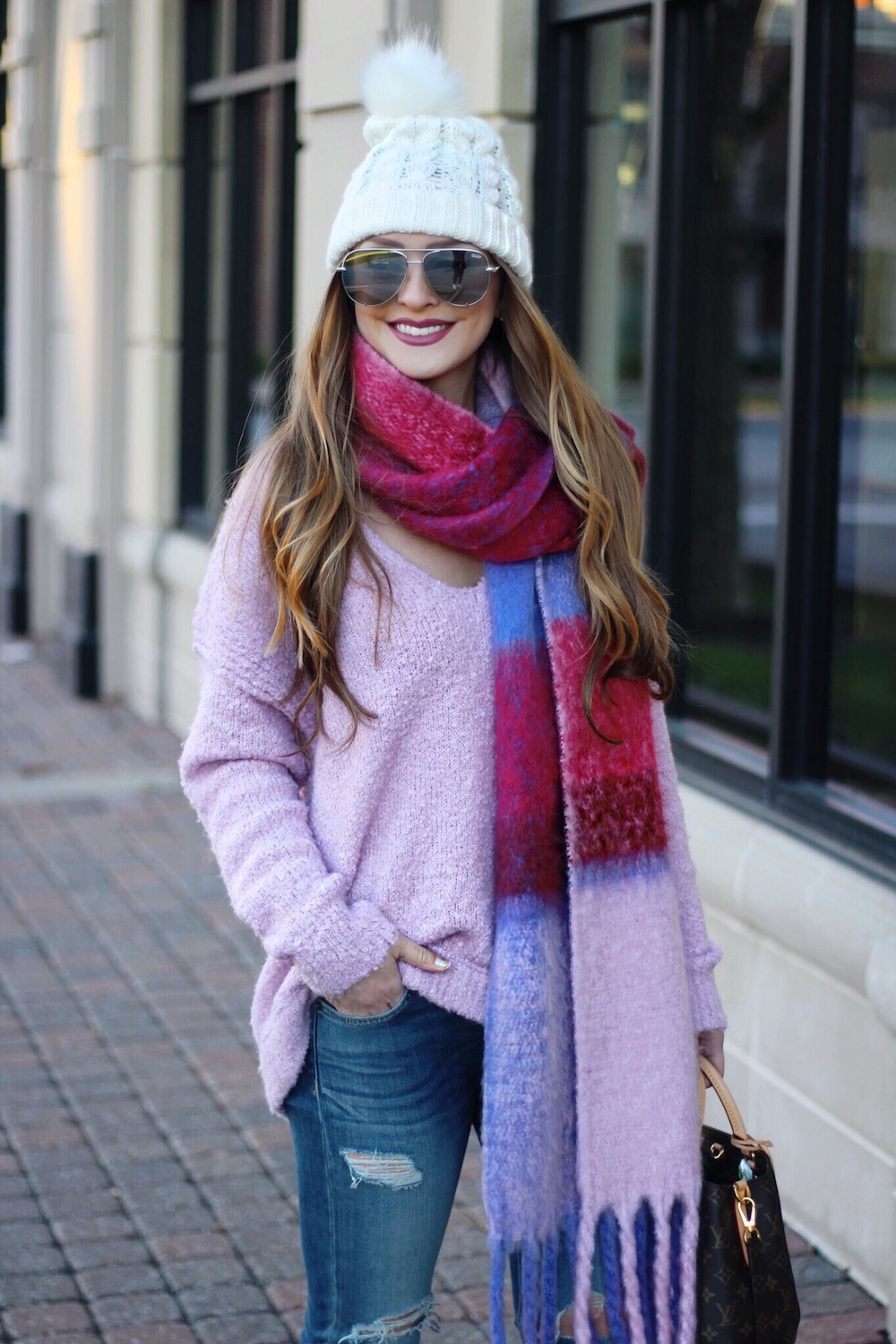 lavender free people sweater rachel puccetti