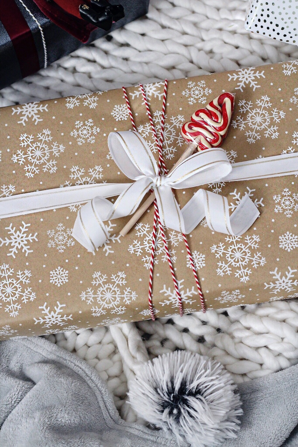 snowflake wrapping paper rachel puccetti