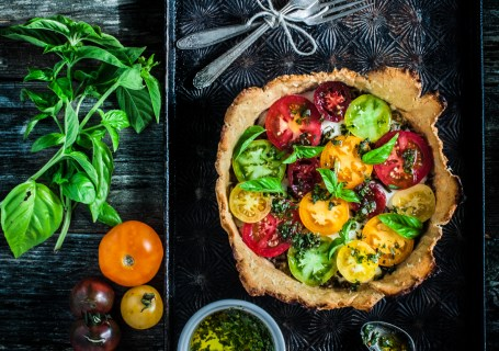Paleo Heirloom Tomato Tart