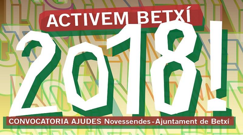 """Novessendes i l'Ajuntament convoquen """"Activem Betxí 2018"""""""