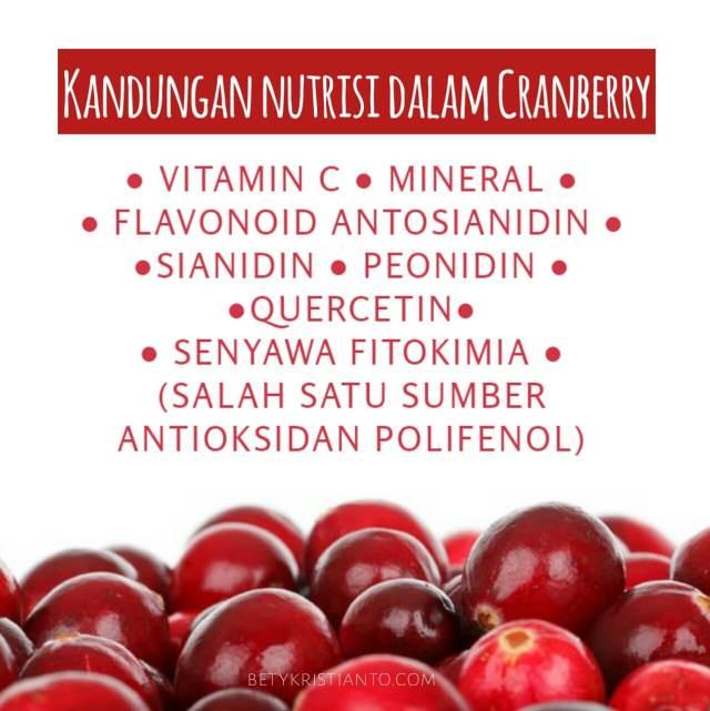 Kandungan nutrisi pada cranberry