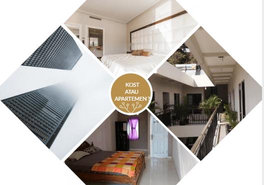 Perbedaan tinggal di apartemen dan kost