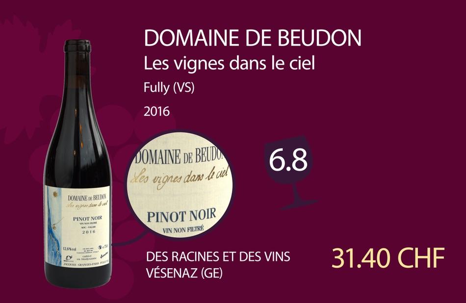 Le Pinot noir 2016 séduit les dégustateurs de A Bon Entendeur