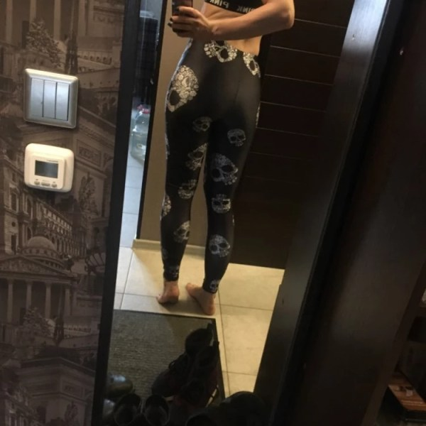 Black Skull Leggings photo review
