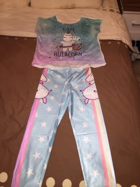 Unicorn Star Rainbow Leggings photo review