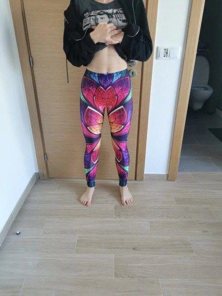Colourful Leaves Leggings photo review