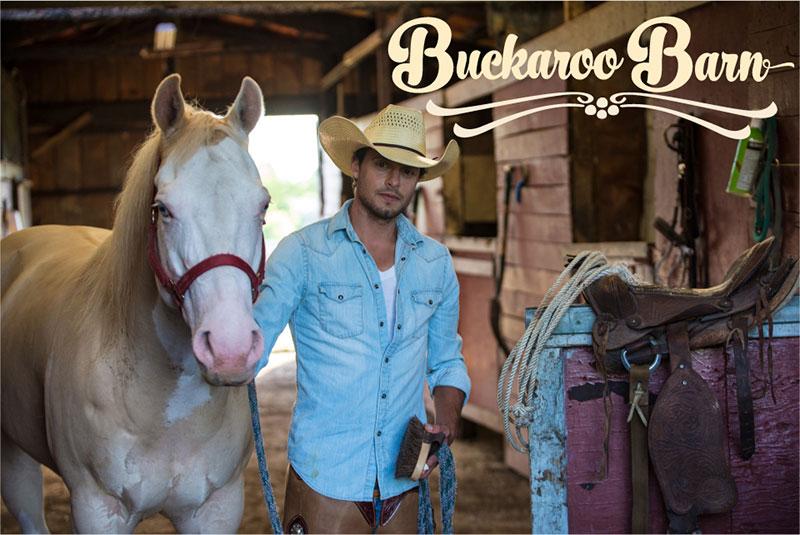 Buckaroo-Barns-Cowboy with Horse