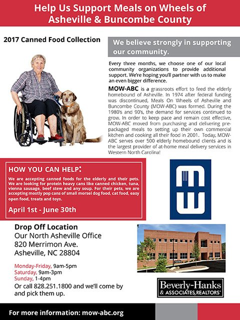 Help us Support Meals on Wheels of Asheville and Buncombe County