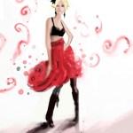 Festive Red Ruffles – iPad Illustration