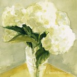 Watercolor White Hydrangea Print