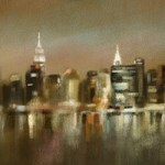 Luminous New York Skyline Painting