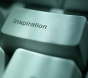 image of keyboard button that reads 'Inspiration'