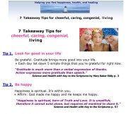 example of takeaway tips sheet - As a Christian Science practitioner, Beverly provides spiritual guidance and tips to help you have a happy, healthy life
