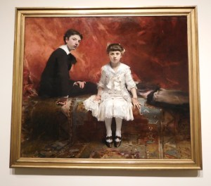 """""""Edouard and Marie-Louise Pailleron"""" by John Singer Sargent, 1881, Oil on canvas"""