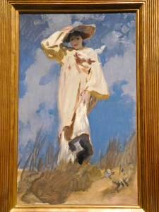 """""""A Gust of Wind"""" by John Singer Sargent, 1883, Oil on canvas."""