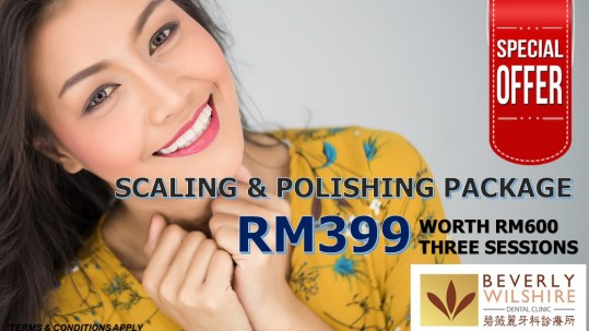 dental scaling & polishing promo