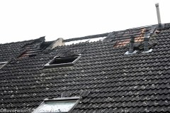 Achterzijde woningen brand Nijenrodeweg