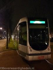 Stilgevallen tram op de Schinnenbaan